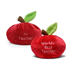 Apple Beanbag World's Best Teacher from Enesco