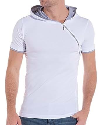 BLZ jeans - T-shirt manches courtes fashion - couleur: Blanc - taille: XL