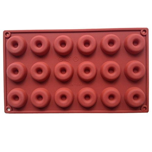 FLY 18-Cavity Donuts Shape Silicone Mold for Making Homemade Chocolate,Candy,Gummy,Jelly