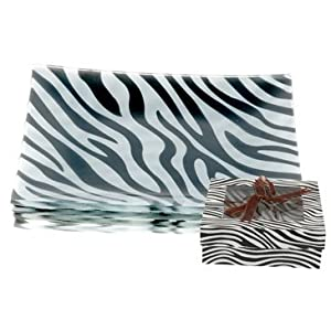 Appetizer and Dessert Plates Zebra Print Set of 4 App 304