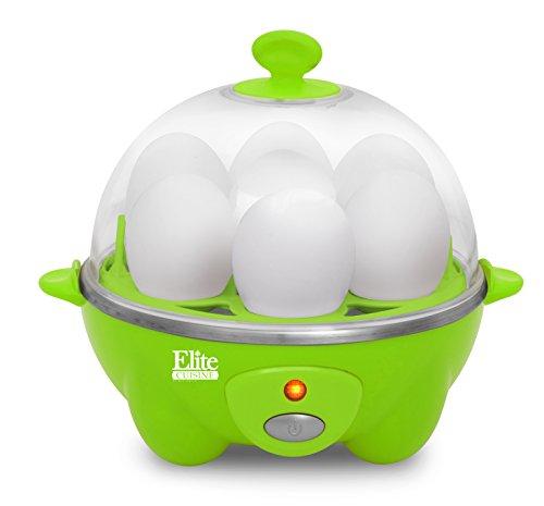 Elite CuisineEGC-007G Egg Cooker w/ 7 Egg Capacity, Green