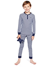 Autograph Pure Cotton Supersoft Striped Pyjamas with Toy