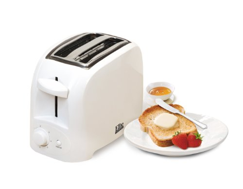 Elite Cuisine ECT-6001 Maxi-Matic 2-Slice Cool Touch Toaster, White (Compact Toaster Oven White compare prices)