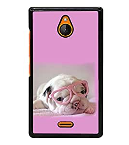printtech Dog Puppy Back Case Cover for Nokia XL Dual SIM RM-1030/RM-1042 with dual-SIM card slots
