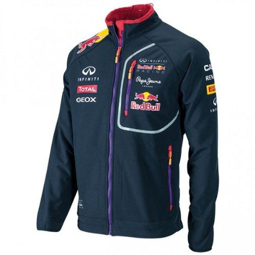 RBR - Felpa ufficiale softshell della squadra Infiniti Red Bull Racing, Formula 1, colore: Blu