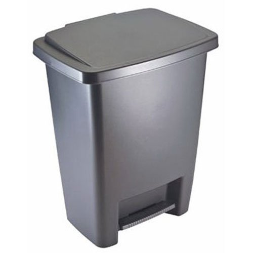 Rubbermaid Step-On Trash Can Wastebasket, Gray, 8.3 -gallon (FG284187CYLND) (Trash Can Foot Pedal compare prices)