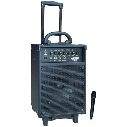 Pyle-Pro Pwma330 300 Watt Vhf Wireless Battery Powered Pa System W/Echo