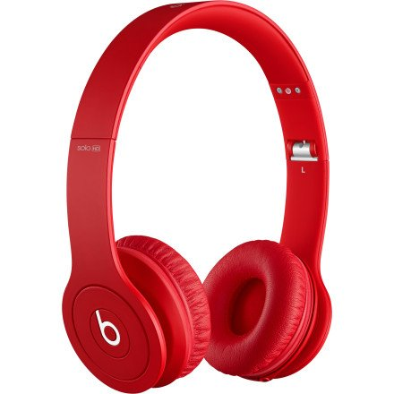 Beats by Dre Solo HD Monochromatic On Ear Headphone Matte Red, One Size