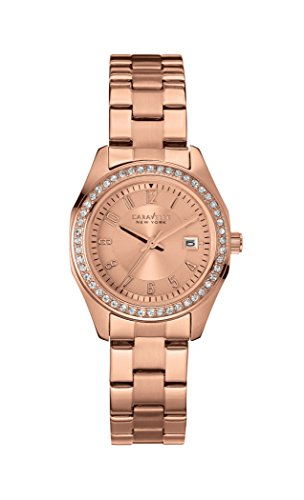 Caravelle New York Women's Quartz Watch with perfectly Petite Analog Quartz Stainless Steel Coated 44 M103