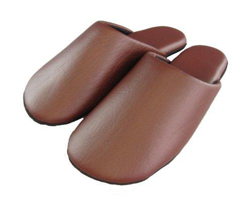 Funami-zapatillas-marrn-tipo-cuero-talla-L-255-26cm-L2000-japn-importacin