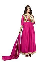 Price Bet Pink 60 Gm Georgette Anarkali Suit Salwar Suit