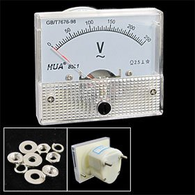 Check Out This 85L1 AC 0-250V Rectangle Analog Volt Panel Meter Gauge