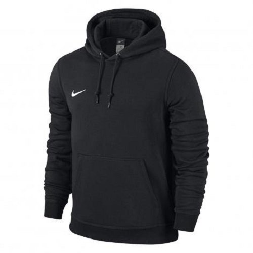 Nike Team Club - Felpa con cappuccio, Multicolore - Black/Football White, taglia XS (122-128)