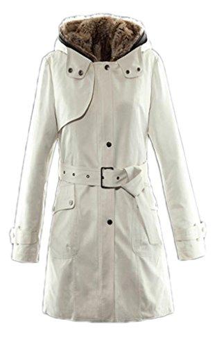 Women'S Winter Coats Wool Liner Padded Jackets Dl-J9388(Beige,Medium)