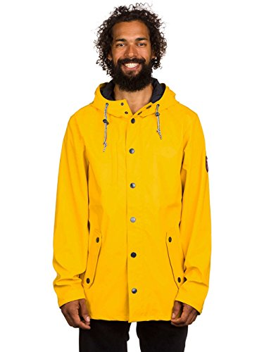 Derbe -  Giacca impermeabile  - Parka - Uomo Yellow Navy Large