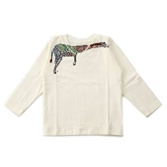 """Mademoiselle Papillon (""""Miss Butterfly"""") - Tee-Shirt, Long Sleeve, Giraffe"""
