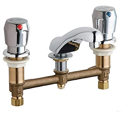 "8"" O/C Deck Mount Metering Faucet, Kitchen, Restaurant, Commercial, Restroom"