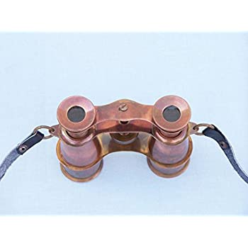 "Scout's Antique Copper Binoculars 4"" - Vintage Binoculars - Nautical Decoration"