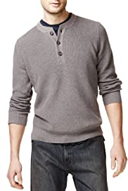 Grandad Collar Long Sleeve Knitted Jumper [T30-4042M-S]