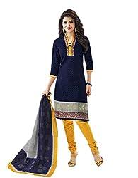 Aarvi Women's Cotton Unstiched Dress Material Multicolor -CV00055