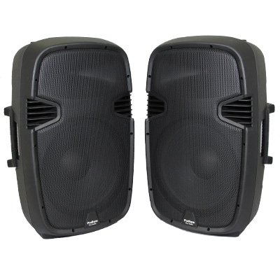 1 Pair of New 1800 Watts Band PA Karaoke DJ Active Powered 15