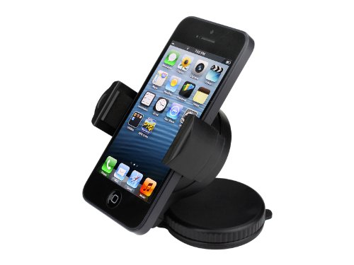 TaoTronics® TT-SH01 mini Car Windshield & Dashboard Mount Cradle Holder for iPhone 5 4S 4 3GS Samsung Galaxy S4 S3 S2 Epic Touch 4G Nokia Lumia 920 900 N9 HTC Sensation OneX EVO 4G Rhyme DROID Motorol