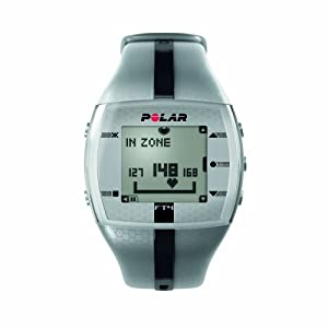 Polar FT4 Heart Rate Monitor Watch (Silver / Black)