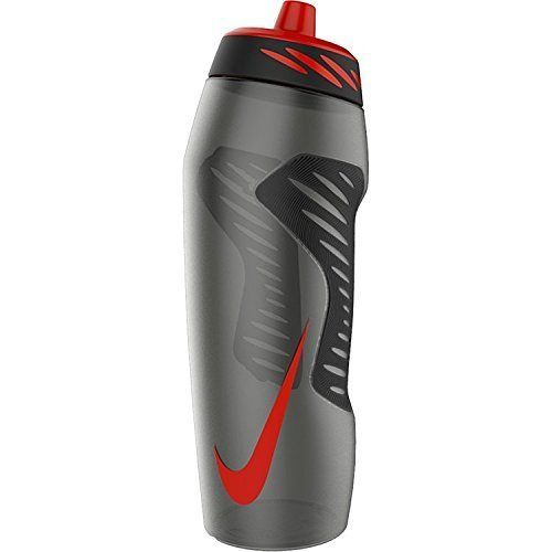 Nike Hyper Fuel Water Bottle 32 oz (Anthracite / Black/Uni Red) (Sports Bottle Nike compare prices)