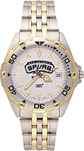 San Antonio Spurs Mens All Star Watch Stainless Steel Bracelet by Logo Art