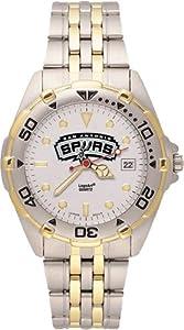 San Antonio Spurs Mens All Star Watch Stainless Steel Bracelet by Logo Art