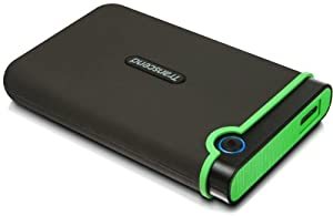 Transcend 1 TB USB 3.0 External Hard Drive - Military Drop Standards (TS1TSJ25M3)