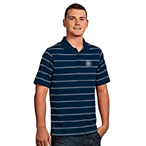 Seattle Mariners Deluxe Striped Polo (Team Color) by Antigua