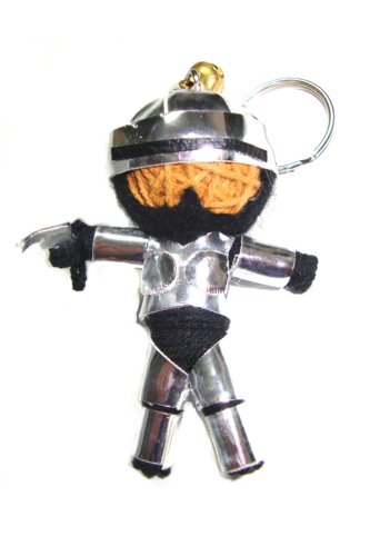 Robocop Voodoo String Doll Keyring Keychain