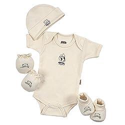 Baby Mink 100% Certified Organic Cotton Newborn 4 Piece Baby Shower Gift Set