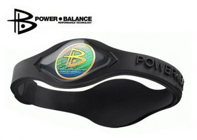 Power Balance Silicone Wristband Black with Black  MEDIUM