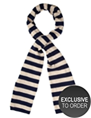 M&S Collection Pure Cashmere Striped Scarf