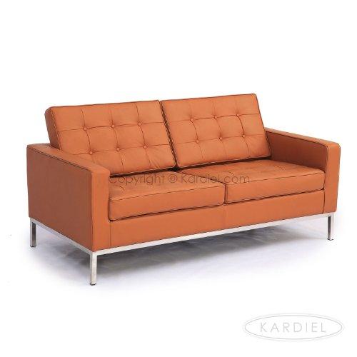 Excellent Kardiel Florence Knoll Style Loveseat Luxe Camel Standard Creativecarmelina Interior Chair Design Creativecarmelinacom