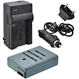 Decoded EN-EL14A Battery With Rapid Travel Charger For Nikon D3100 D3200 D3300 D5100 D5200 D5300 & D5500 SLR Cameras...