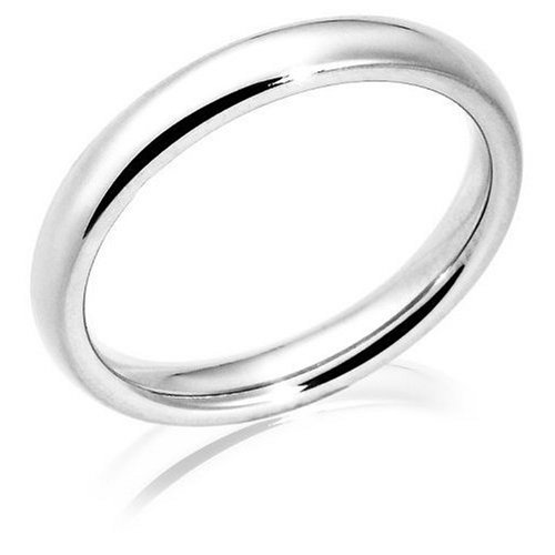 Platinum 3mm Comfort Fit Women's Wedding Band
