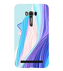 BLUE AND PINK CURTAINS PATTERN 3D Hard Polycarbonate Designer Back Case Cover for Asus Zenfone Go (5 Inches ):: Asus Zenfone Go ZC500TG