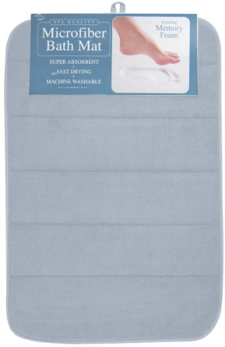Envision Home Microfiber Bath Mat with Memory Foam, 16 by 24-Inch, Celestial Celestial Bath