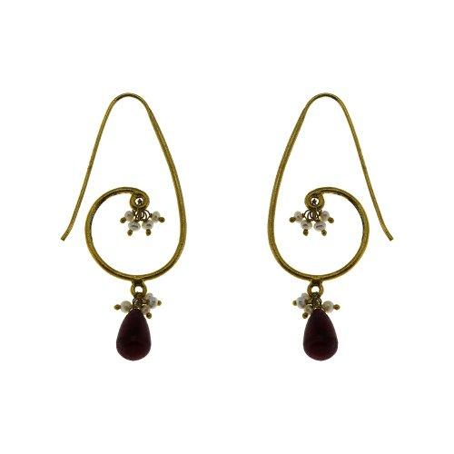 Multi Gemstone India Earring Handmade Fine Silver Jewellery