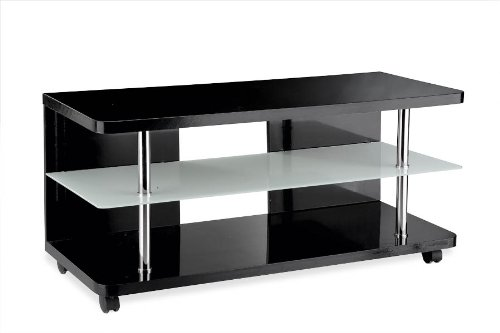 meubles tv tomno rangement multim dia meuble tv verre noir. Black Bedroom Furniture Sets. Home Design Ideas