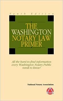 2014 Washington Notary Law Primer