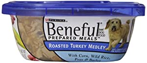 Beneful Dog Food Prepared Meals Roasted Turkey Medley, 10-Ounce Plastic Containers (Pack of 8)