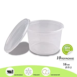 G-Box Life - Round Food Storage Containers with Lids - BPA Free - 16 oz - Buy 3 get 1 free... by G-Box