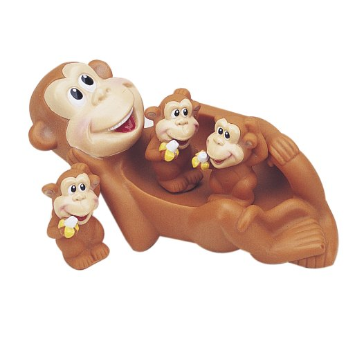 Monkey Family Bath Toy - Floating Fun!