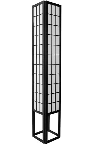 Best Price Bargain Inexpensive Cheap Discount - 6ft. Japanese Wood & Paper Shoji Floor Lamp - Black