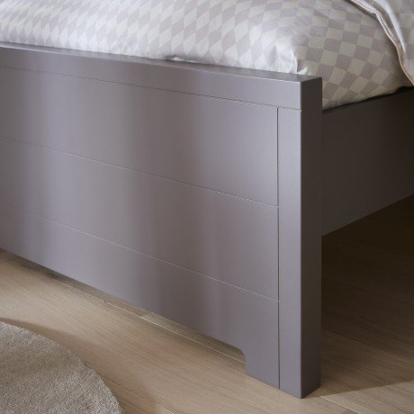 Alfred & Compagnie - Lit taupe 90x200 Oscar et Emma