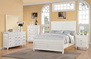 Awesome Elements Spencer Piece Bed Set King White